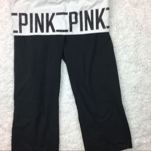 VS Pink Bling Yoga Crops